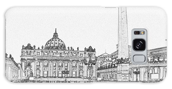 Galaxy Case - St Peter's Square Pen And Ink 4789 by Bob Neiman
