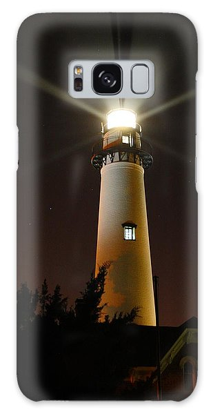 St Simons Island Lighthouse Galaxy Case by Kathryn Meyer