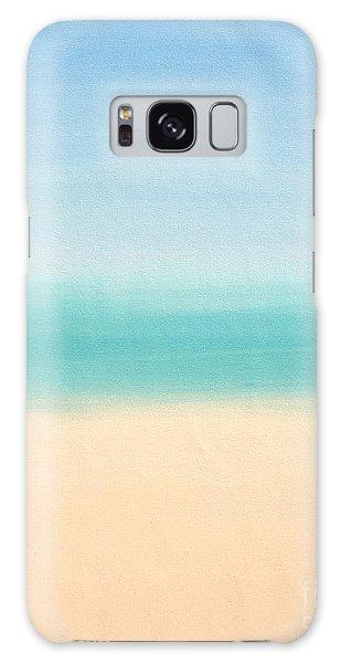 St Thomas #3 Seascape Landscape Original Fine Art Acrylic On Canvas Galaxy Case