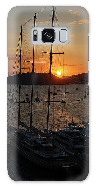 St. Thomas Sunset Galaxy Case