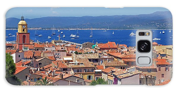 St-tropez Skyline Galaxy Case by Corinne Rhode