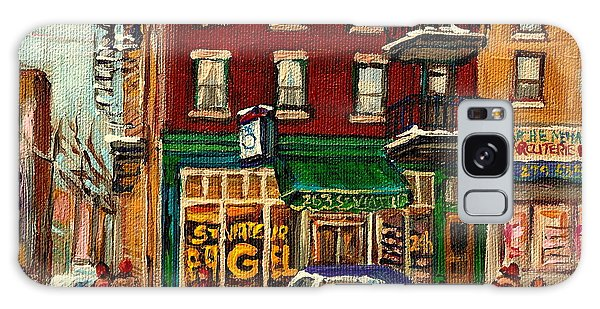 St Viateur Bagel And Mehadrins Deli Galaxy Case