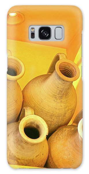 Stacked Yellow Jars Galaxy Case