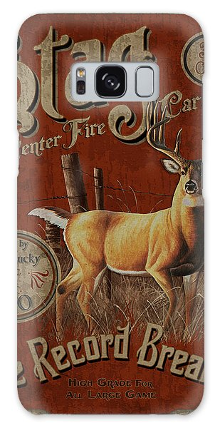 Stag Record Breaker Sign Galaxy Case