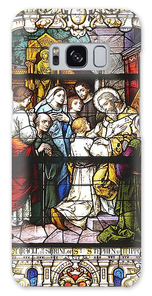 Stained Glass 1 Galaxy Case by Kenneth Albin