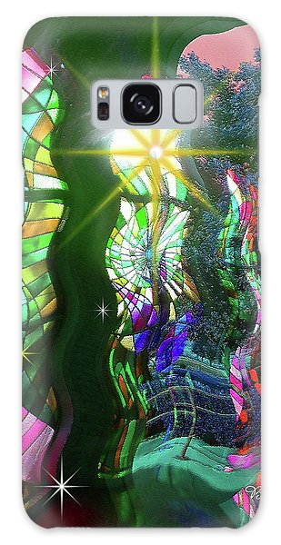 Stained Glass #4719_2 Galaxy Case