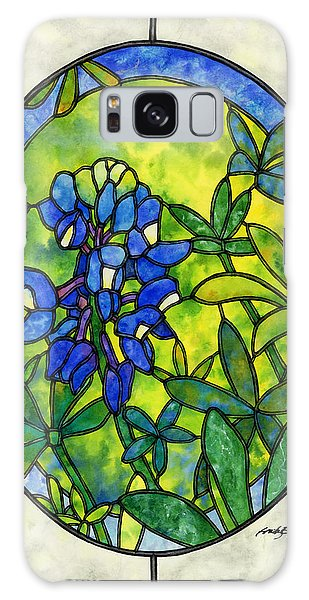 Glass Galaxy Case - Stained Glass Bluebonnet by Hailey E Herrera