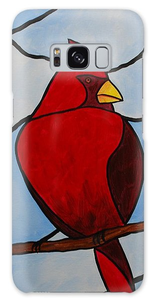 Stained Glass Cardinal Galaxy Case