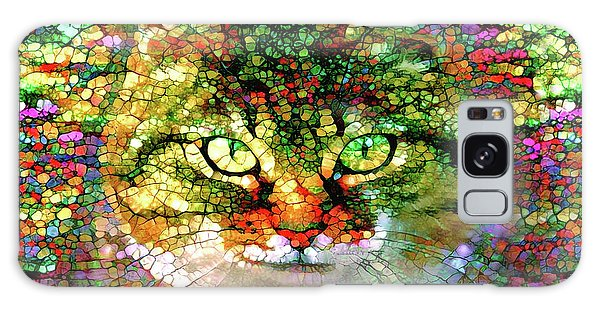 Stained Glass Cat Galaxy Case