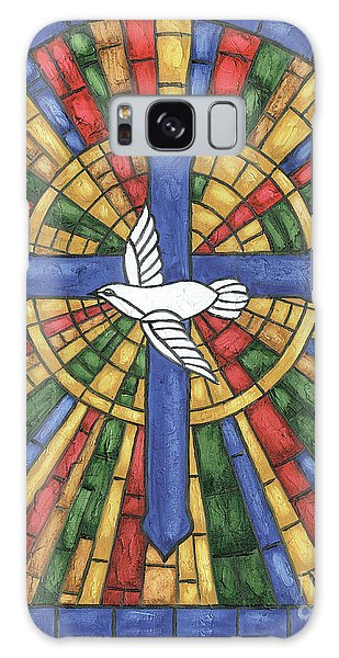 Dove Galaxy S8 Case - Stained Glass Cross by Debbie DeWitt