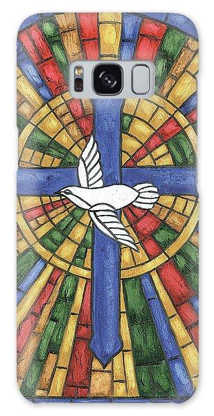 Jewels Galaxy Case - Stained Glass Cross by Debbie DeWitt