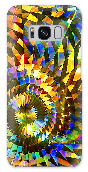 Stained Glass Fantasy 1 Galaxy Case by Francesa Miller