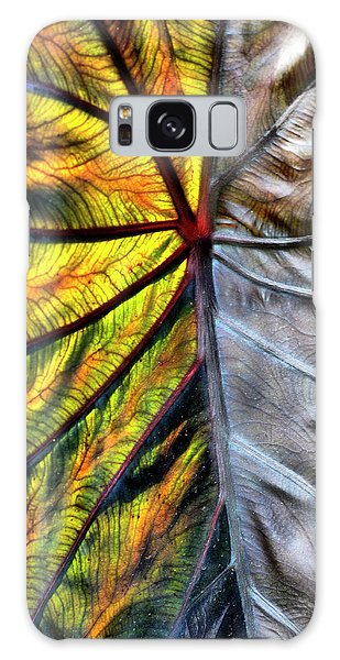 Stained Glass Leaf Galaxy Case