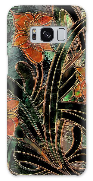 Amaryllis Galaxy Case - Stained Glass Parabolas by Mindy Sommers