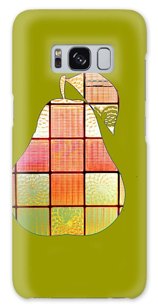 Stained Glass Pear Galaxy Case