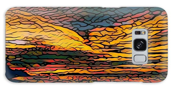 Stained Glass Sunset Galaxy Case