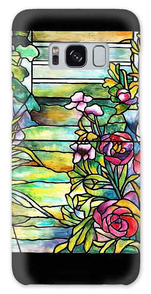Stained Glass Tiffany Robert Mellon House Galaxy Case by Donna Walsh