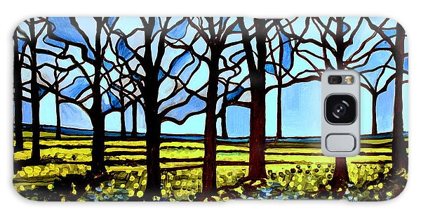 Stained Glass Trees Galaxy Case