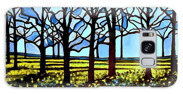 Stained Glass Trees Galaxy Case by Elizabeth Robinette Tyndall