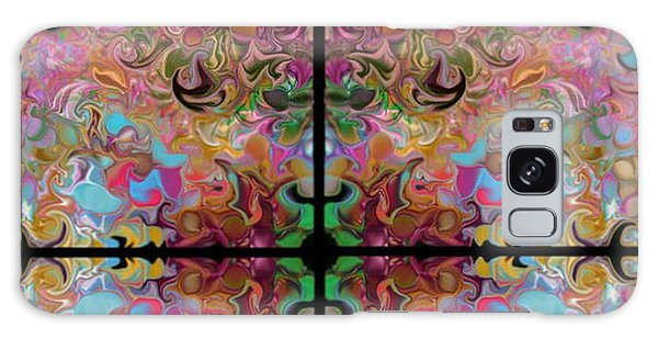 Stained Glass Window Galaxy Case by Loxi Sibley