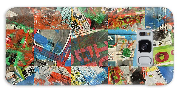 Stained Newspaper Pages Galaxy Case