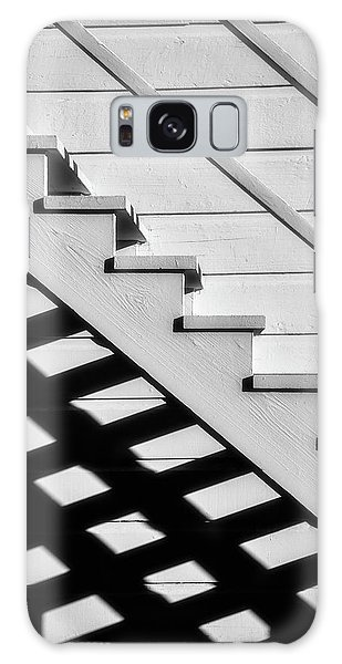 Handrail Galaxy Case - Stairs In Black And White by Garry Gay
