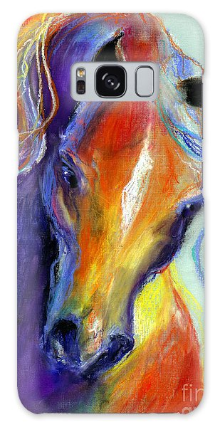Stallion Horse Painting Galaxy Case