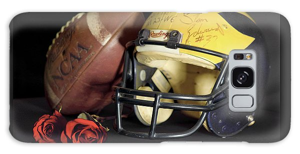 Stan Edwards's Autographed Helmet With Roses Galaxy Case