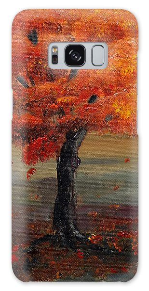 Stand Alone In Color - Autumn - Tree Galaxy Case