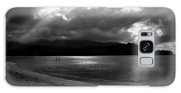 Stand Up Paddlers In Stormy Skies Galaxy Case