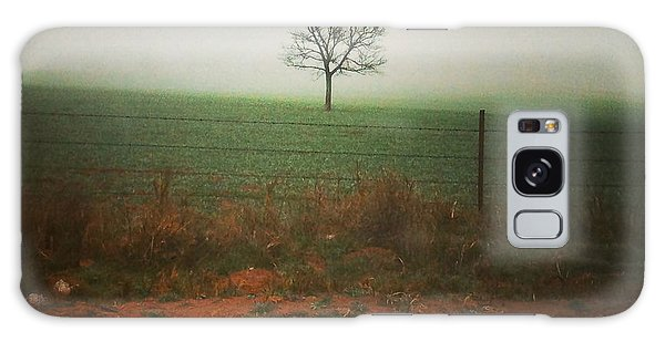 Standing Alone, A Lone Tree In The Fog. Galaxy Case