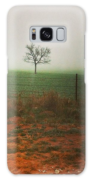 Galaxy Case featuring the photograph Standing Alone, A Lone Tree In The Fog. by Shelli Fitzpatrick