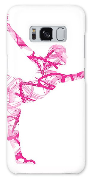 Yoga Pose Asana Standing Bow Pose Galaxy Case