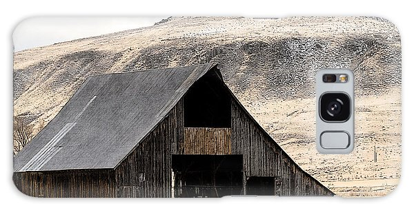 Standish Barn In Winter Galaxy Case