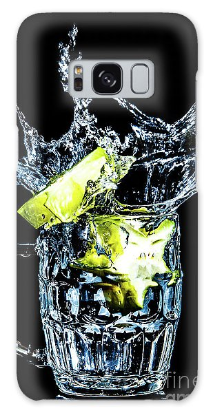 Galaxy Case featuring the photograph Star Fruit Splash by Ray Shiu