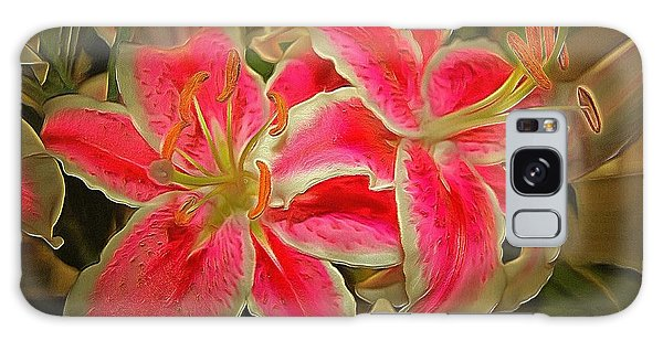 Star Gazer Lilies Galaxy Case