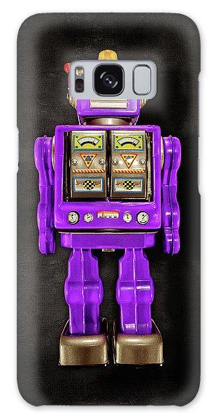 Star Strider Robot Purple On Black Galaxy Case by YoPedro