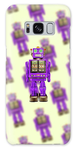 Star Strider Robot Purple Pattern Galaxy Case by YoPedro