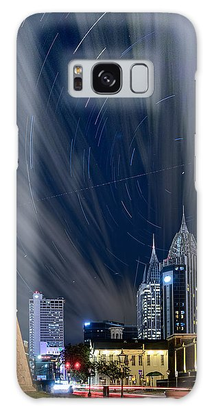 Star Trails And City Lights Galaxy Case