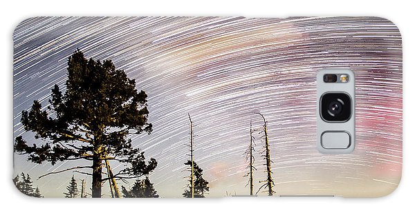 Star Trails At Fort Grant Galaxy Case