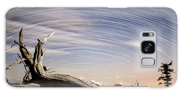 Star Trails By Fort Grant Galaxy Case
