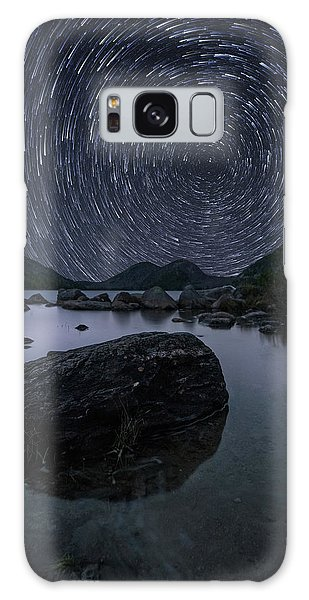 Star Trails Over Jordan Pond Galaxy Case