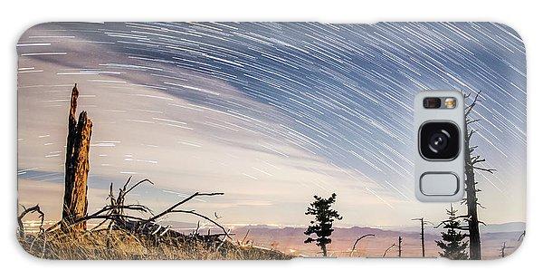 Star Trails Over Mt. Graham Galaxy Case