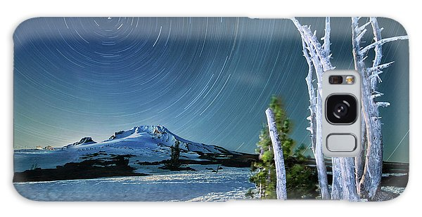 Star Trails Over Mt. Hood Galaxy Case