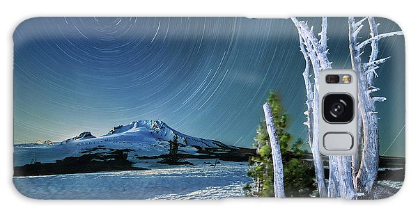 Star Trails Over Mt. Hood Galaxy Case by William Lee