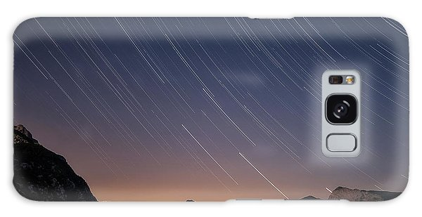Star Trails Over The Apuan Alps Galaxy Case