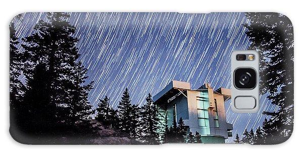Star Trails Over The Large Binocular Telescope Galaxy Case