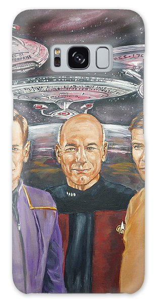 Star Trek Tribute Enterprise Captains Galaxy Case by Bryan Bustard
