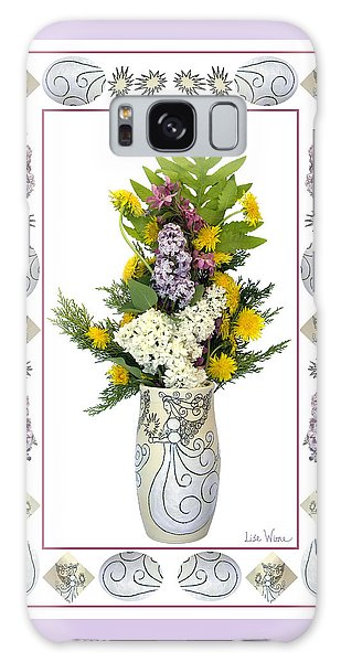 Star Vase With A Bouquet From Heaven Galaxy Case by Lise Winne