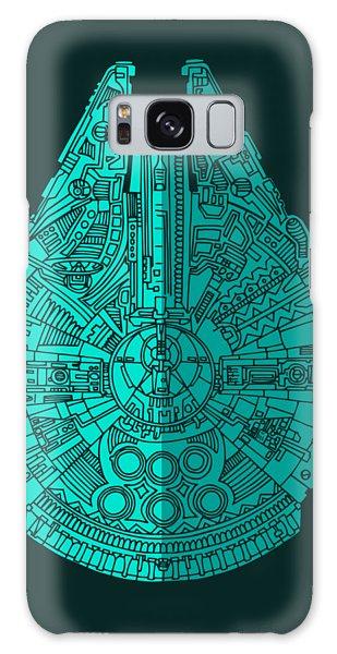 Star Wars Art - Millennium Falcon - Blue 02 Galaxy Case